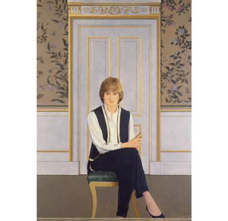 An image showing 'Diana, Princess of Wales by Bryan Organ, 1981'