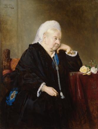 An image showing 'Queen Victoria by Bertha Müller, after Heinrich von Angeli'