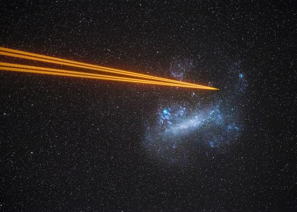 An image showing 'Attack on the Large Magellanic Cloud'