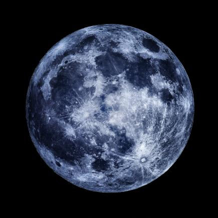 An image showing 'Once in a Blue Moon'