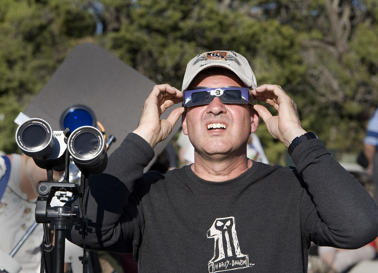 Protective eye-wear for viewing eclipse
