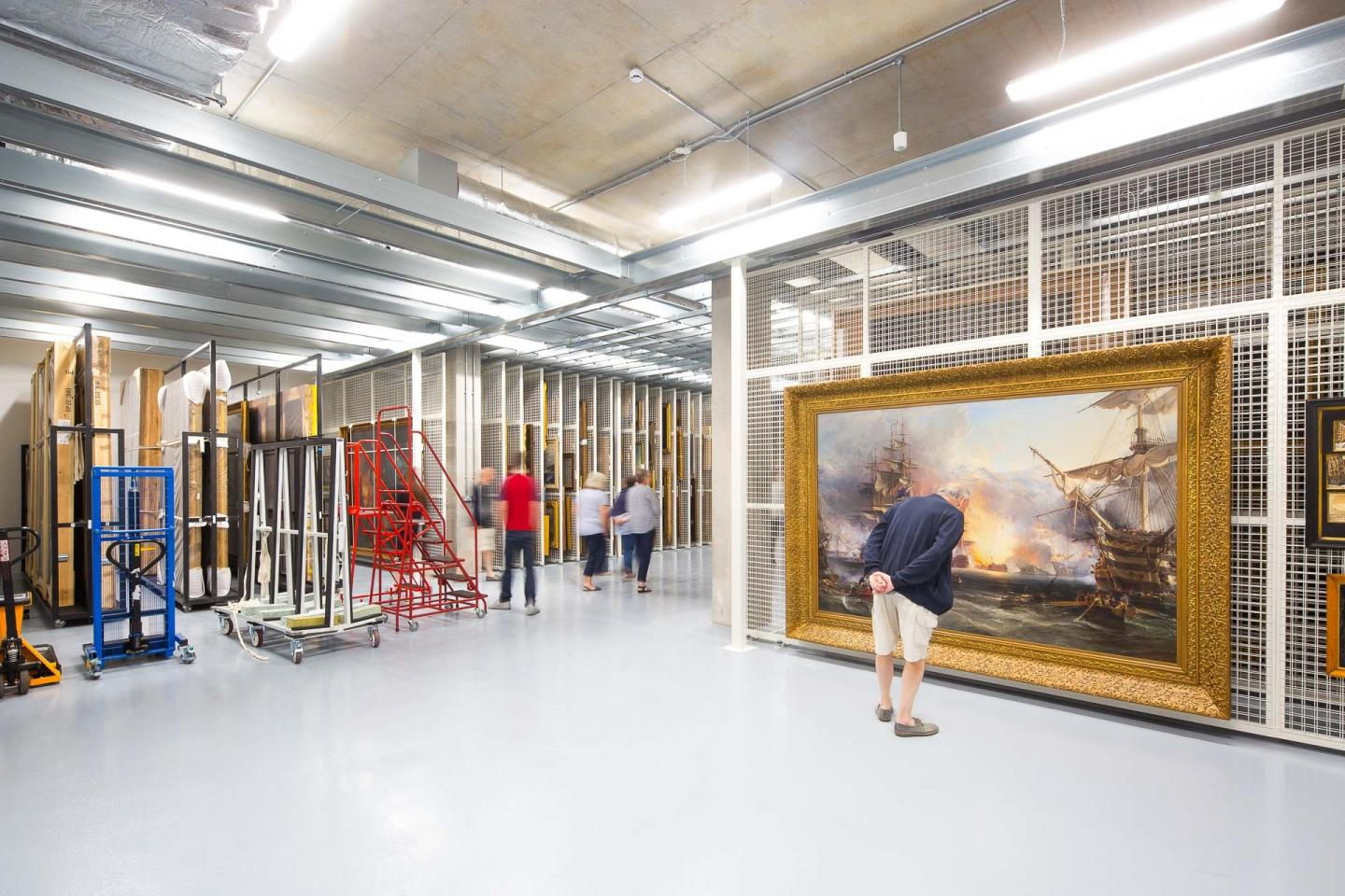 Inside the collections storage facility and conservation studio of Royal Museums Greenwich