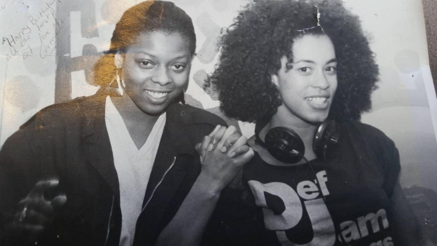 Radio DJs Carmella and Elayne