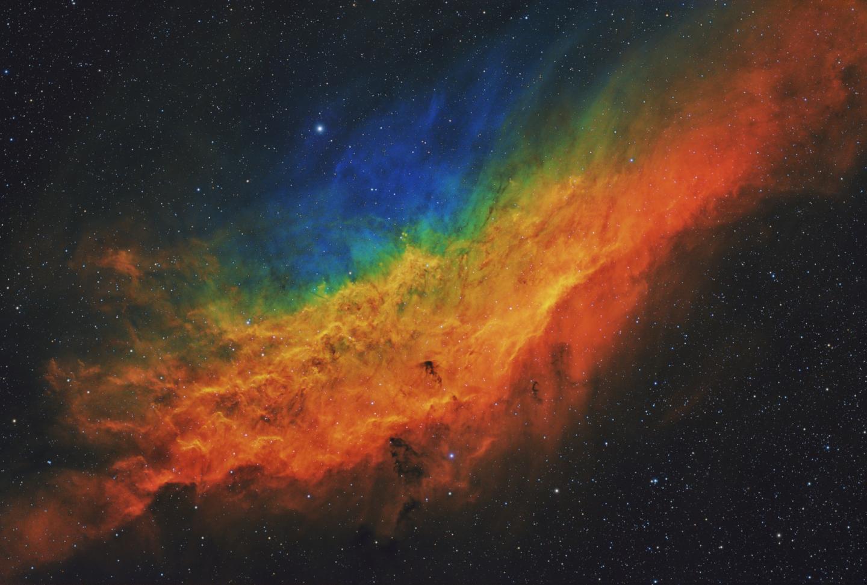 Rainbow image of the California Nebulae