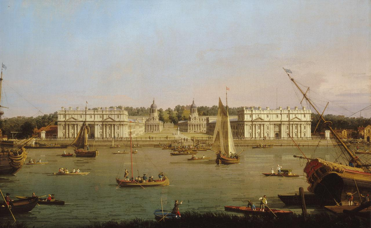 Greenwich Hospital from the North Bank of the Thames by Canaletto