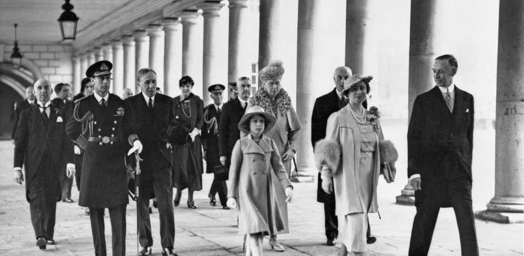 Royal opening of the National Maritime Museum by King George VI, 1937. By unknown
