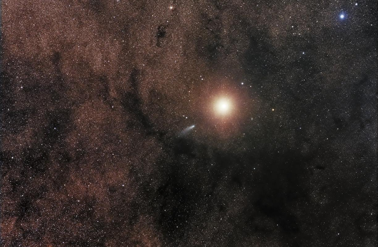 Comet C2013 A1 Alongside Mars © Sebastian Voltmer, Astronomy Photographer of the Year Robotic Scope Winner 2015