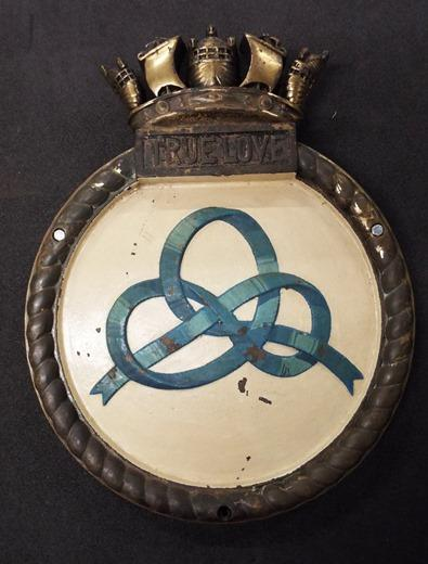 HMS Truelove ship badge
