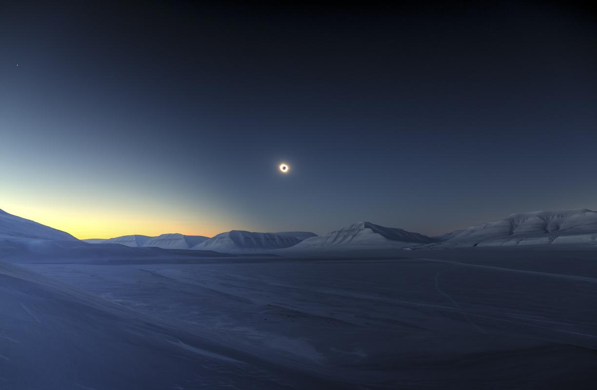 Eclipse Totality over Sassendalen © Luc Jamet, Astronomy Photographer of the Year Overall and Skyscapes Winner 2015