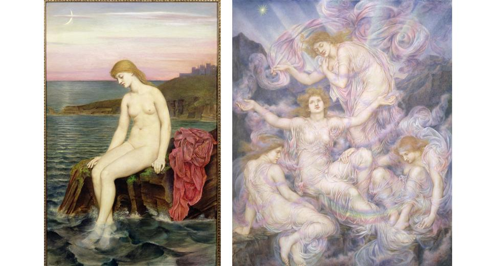 'The Little Sea Maid' (1886-8) and 'Daughters of the Mist' (n.d.), by Evelyn de Morgan