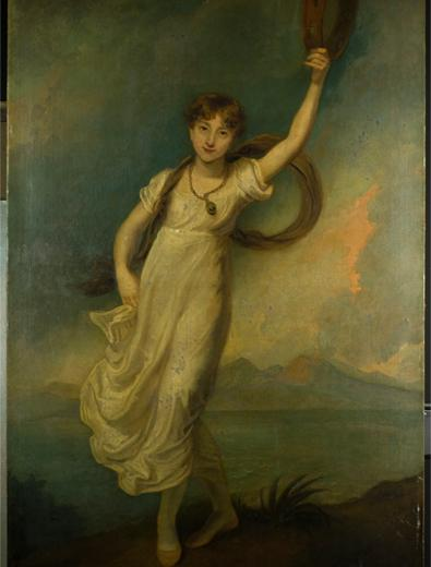 Painting of Horatia, daughter of Lord Nelson and Emma Hamilton