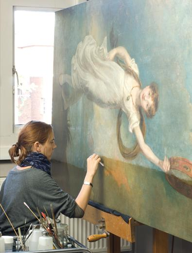 Painting conservation at the National Maritime Museum