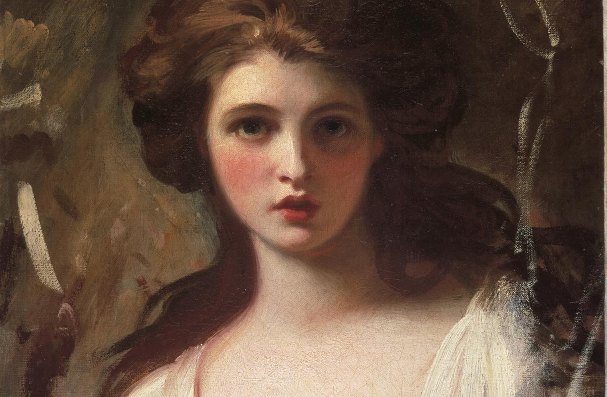 A detail from 'Emma Hart as Circe' by George Romney ©Tate, London 2016