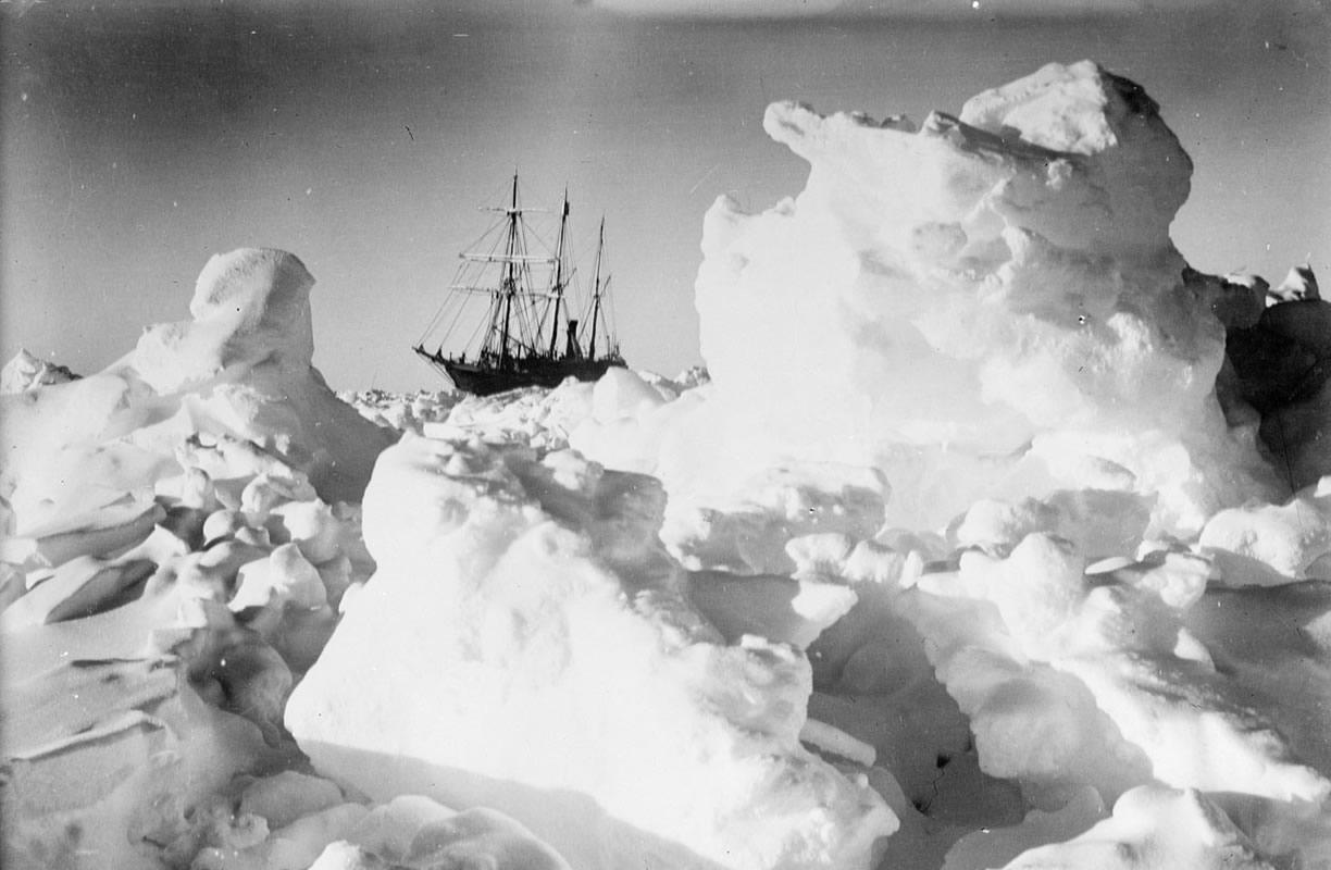 Shackleton's Endurance stuck in the ice, by James Francis Hurley