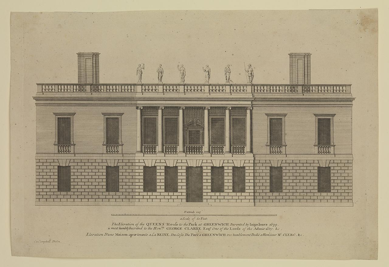 The Elevation of the Queens House to the Park