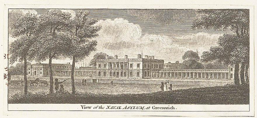 View of the naval asylum at Greenwich