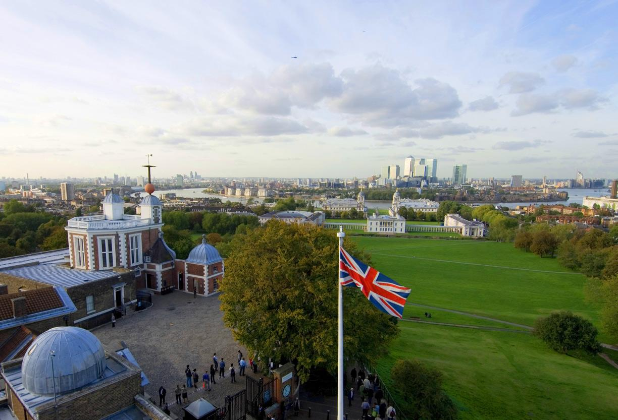 Royal Observatory Greenwich and view across London