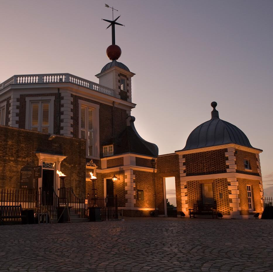 Royal Observatory - Flamsteed House at night