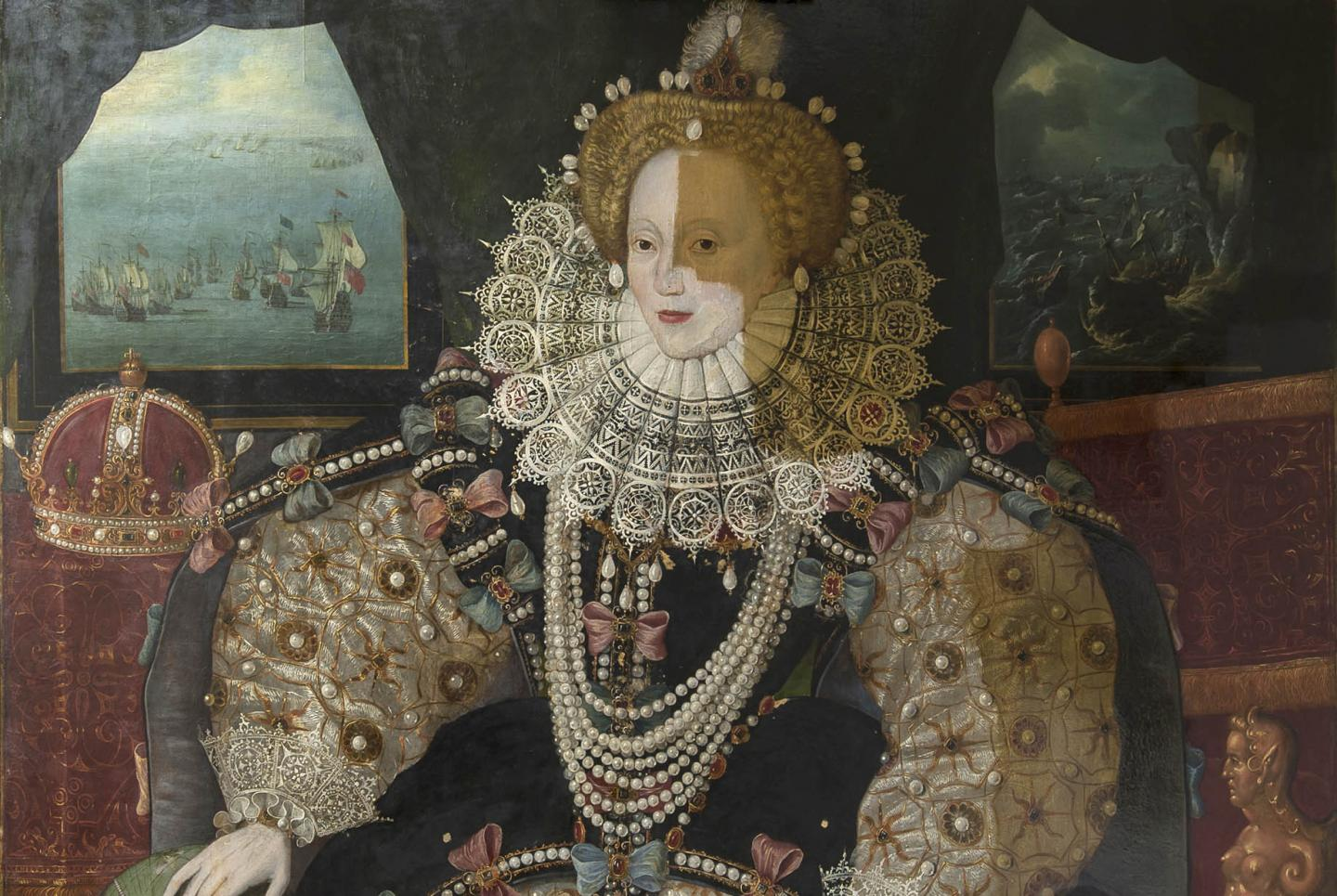 The Armada Portrait of Queen Elizabeth I: removing the varnish