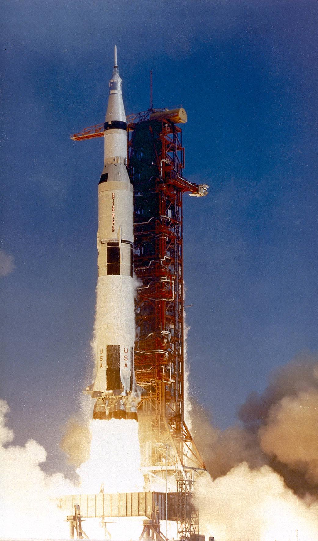 Saturn V lift off