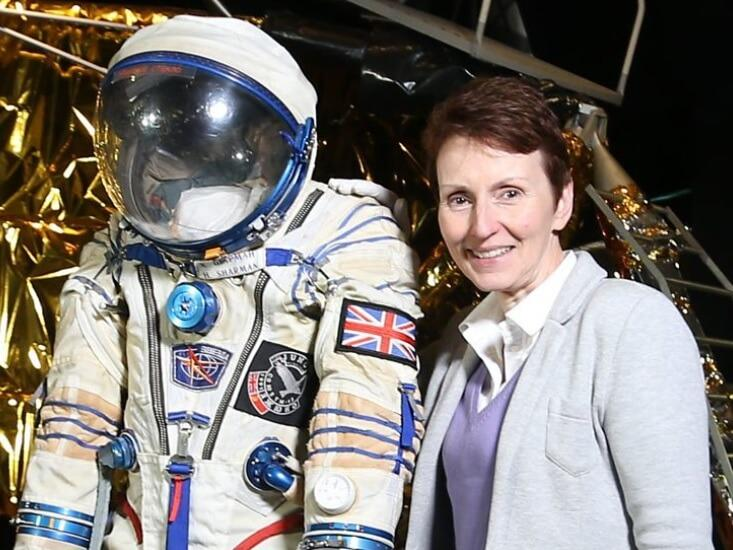 Helen Sharman - First british woman in space with spacesuit. Image credit: BBC
