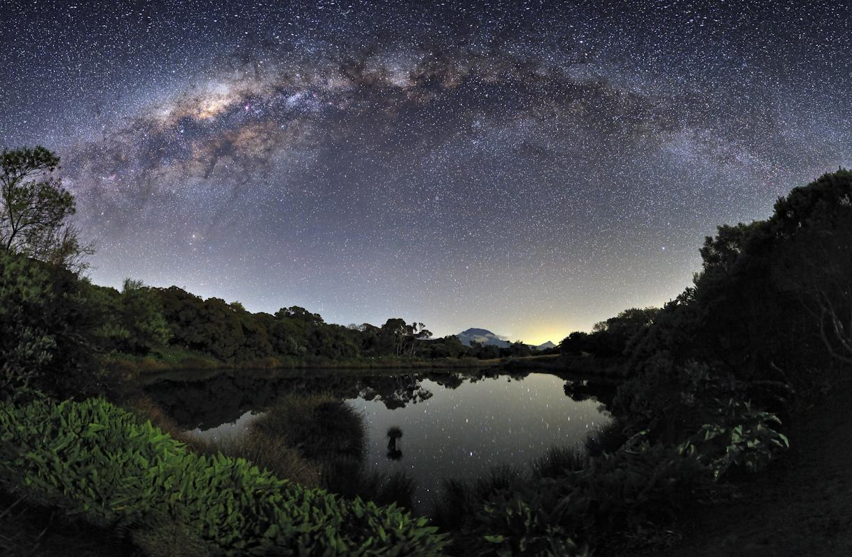 The Milky Way View from the Piton de l'Eau, Réunion Island © Luc Perrot, Astronomy Photographer of the Year Earth and Space Commended 2012