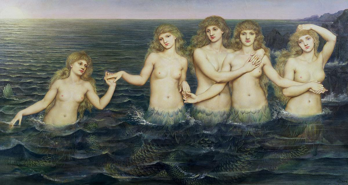 'The Sea Maidens' (1896) by Evelyn de Morgan