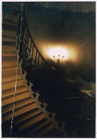 A photograph said to show the Queen's House ghost