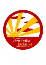 Dementia inclusive window sticker