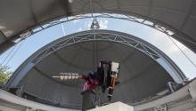 Image of the Annie Maunder Astrographic Telescope in the Altazimuth Pavilion