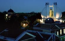 View of the Great Equatorial Dome, Royal Observatory Greenwich, at night