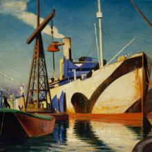 Image of ships painting by John Everett