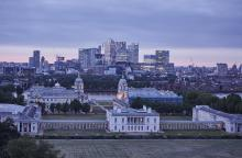 Greenwich and Canary Wharf View