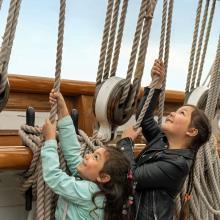 Children on Cutty Sark