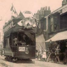 Tram in Portsmouth during Japanese naval visit