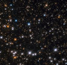Star-studded section of an open star cluster