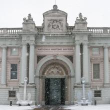 Maritime Museum in the snow