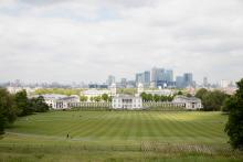 The spectacular view from Greenwich Park