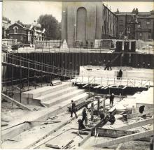 Building the dry dock (1954)