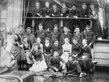 Sailors on board Cutty Sark
