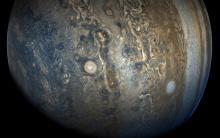 NASA Juno spacecraft image of Jupiter