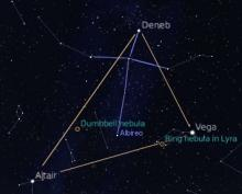 The summer triangle in November