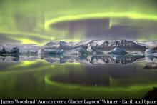 James Woodend_ Aurora over a glacier lagoon Winner Earth and Space