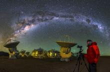Milky Way Arcs Over ALMA