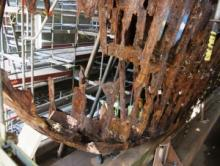 Cutty Sark - Corrosion at the stern
