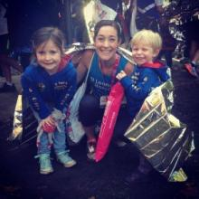 My monkeys and me after the York marathon.