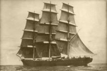 Cutty Sark at sea, 6 June 1888, by Captain Woodget © Cutty Sark Trust