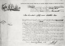 Bill of lading for 250 cases of beer from London to Newcastle NSW, 1883 © Cutty Sark Trust
