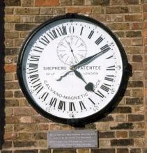 The first ever clock to show Greenwich Meantime directly to the public