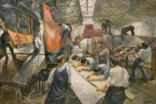 Landing Craft Mechanized, by Leslie Cole, 1943, National Maritime Museum, BHC1560